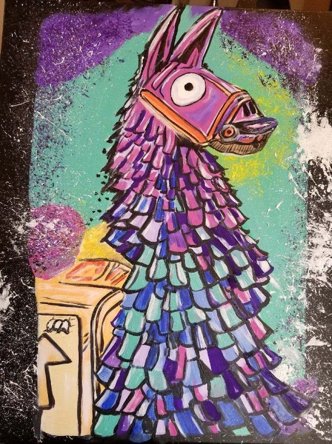 A Talented Person Painted This Lootllama Fortnite