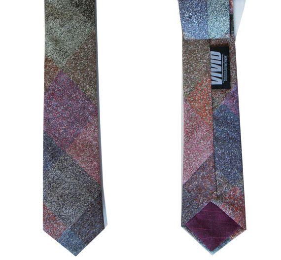 Skinny Tie  Liberty Print   Sparkle Marble by VIVIDClothingToronto