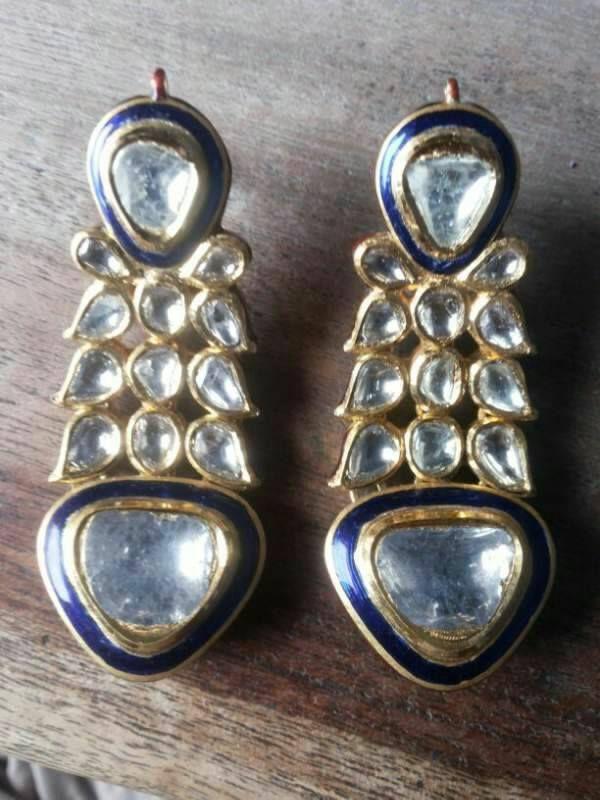24 best Jadauu Earrings (Polki, Kundan) images on ...