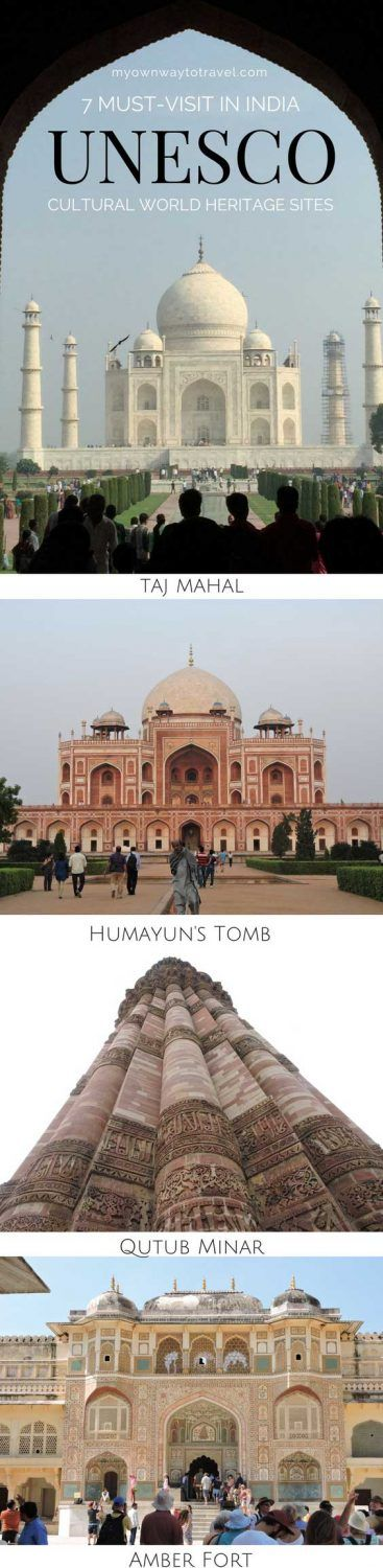 Seven Must-Visit Cultural World Heritage Sites from the state of Delhi, Uttar Pradesh, and Rajasthan in #India. I believe, as a World Heritage Traveler, you shouldn't miss visiting. #travel #travelindia #unesco #unescoworldheritage #worldheritagesites