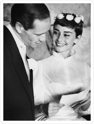 Audrey Hepburn 's wedding hair. She is the definition of class.