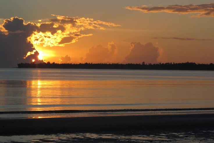 sunset in bali, indonesia