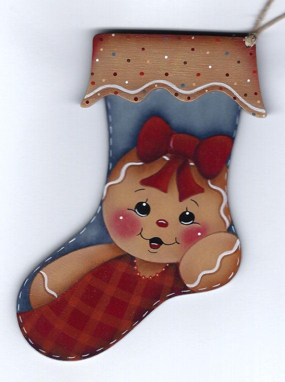 Gingerbread Stocking Ornament Painting por GingerbreadCuties