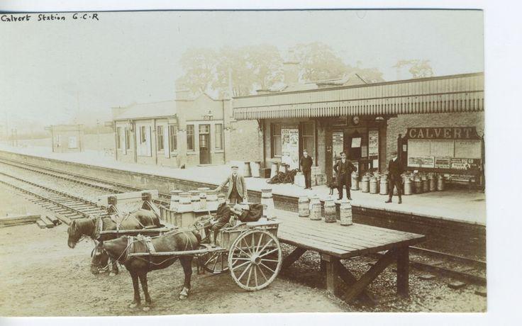 Calvert Railway Station, GCR, near Buckingham and Bicester, rare view, RP pc | eBay
