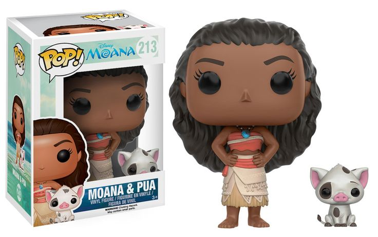 "Pop! Disney: Moana Grow your Disney Pop! vinyl collection with Moana, the upcoming film from Disney! ""Moana"" is an adventure across Oceania, featuring a tenacious young girl named Moana and a demi-god Maui who set sail together across the South Pacific! This set of Pop!s features Moana in several variations: Moana with her pet pig Pua, with her spear (only at Target), in her voyager outfit (exclusively at Walmart), as a young girl, and as a seated young girl (only at Hot Topic). You can…"