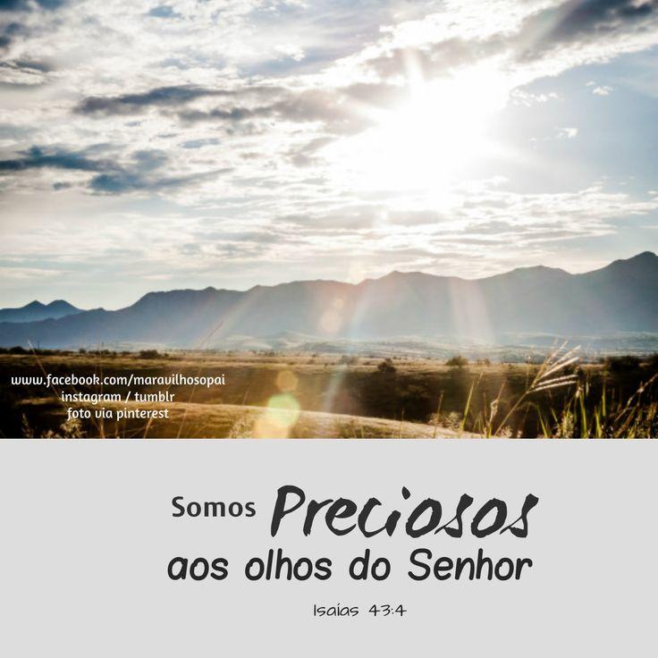 Somos preciosos aos olhos do Senhor. Isaías 43:4  *Estamos também no instagram http://instagram.com/maravilhosopai  *E no Tumblr: http://maravilhosopai.tumblr.com/  #maravilhosopai #fé #faith  #vesículos #Jesusteama #Deus #bible #bíblia #god #godbless #sweet  #peace #paz #inspiração #olhos #Pai #Paidasluzes