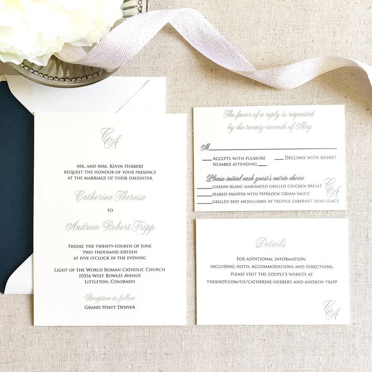 custom wedding invitations nashville%0A Initials Wedding Invitation