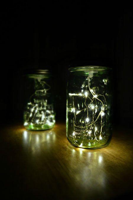 Firefly Mason Jar Lanterns : Apartment Living Blog