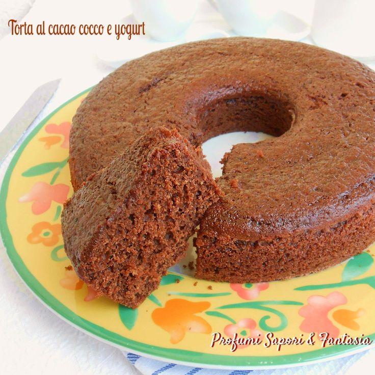 Torta al cacao cocco e yogurt