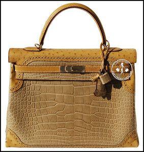 35 hermes alligator, ostrich, \u0026amp; lizard ghillies kelly handbag ...