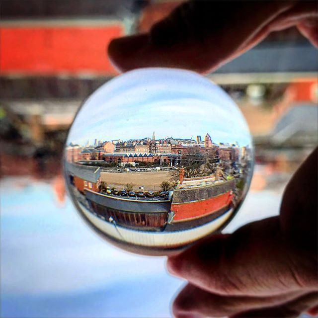 Playtime in Nottingham - #lensball #reflection #nottingham #view #lensballphotography #lens #gearporn #dof #crystalballphotography #crystalball #best_of_crystalball #photography #trysomethingnew #techniques #fujifilm_xseries #fujifilm_uk #repostmyfujifilm #seeinanewway #instadaily #pictureoftheday