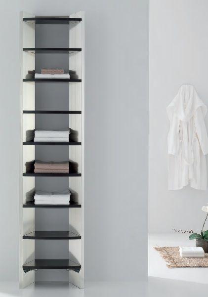 SKAP- La hauteur de ce radiateur aluminium est de 2100mm. Disponible en acier inoxydable brillant ou satiné, les étagères sont en Wengé ou en chêne- puissance 1150W - à partir de 3300€