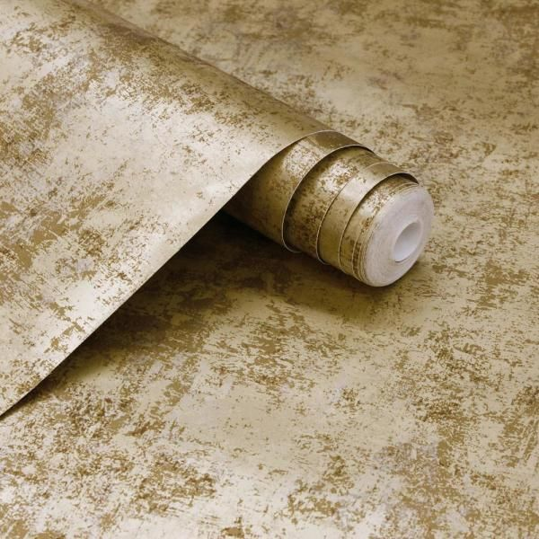 Tempaper Distressed Gold Leaf Vinyl Peelable Wallpaper Covers 56 Sq Ft Di543 The Home Depot In 2020 Gold Leaf Prints Peel And Stick Wallpaper Removable Wallpaper