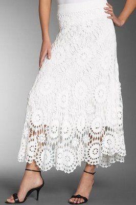 pretty: Crochet Gold, Crochet Doro, Crochet Woman, Crochet Skirts, Crochet Lace, Crochet Knits, White Skirts, Crochet Clothing, Gonna Bianca