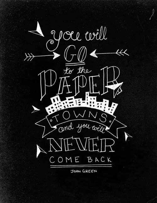 ◀Paper towns▶