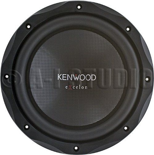 "Kenwood KFC-XW10 10"" 4 Ohm Subwoofer by Kenwood. Save 67 Off!. $59.90. KENWOOD 10"" EXCELON SERIES MOBILE SUBWOOFER - KFCXW10. 1200W MAX POWER. MOUNTING DEPTH 5 INCHES. DUAL VENTILATION SYSTEM. RUBBER SURROUND FOR LONGER LIFE. FREQUENCY¿RESPONSE 36HZ TO 300HZ. BLACK FINISH"