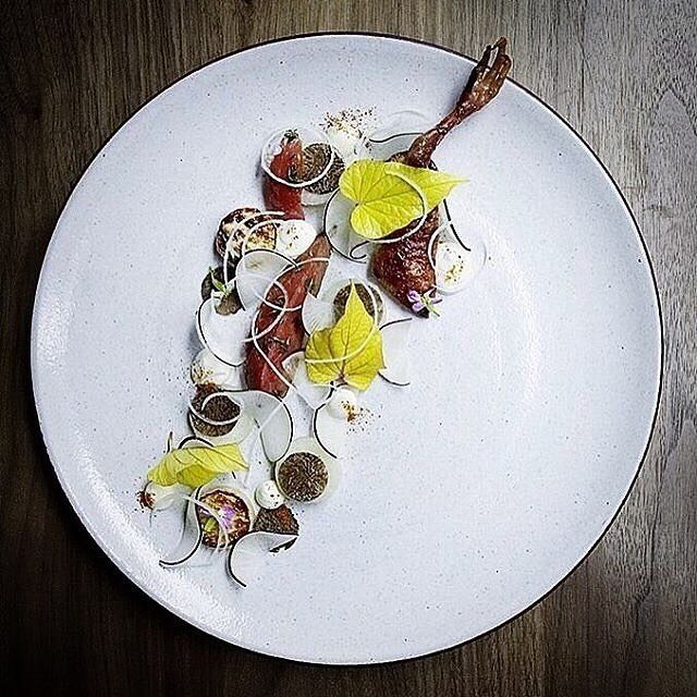Squab rating celebrity black radish and truffle by @marcus.jernmark  @signebirck  Tag your best plating pictures with #armyofchefs to get featured.   #Squab #celeriac #radish #truffle #truffles #black #plating #chefs