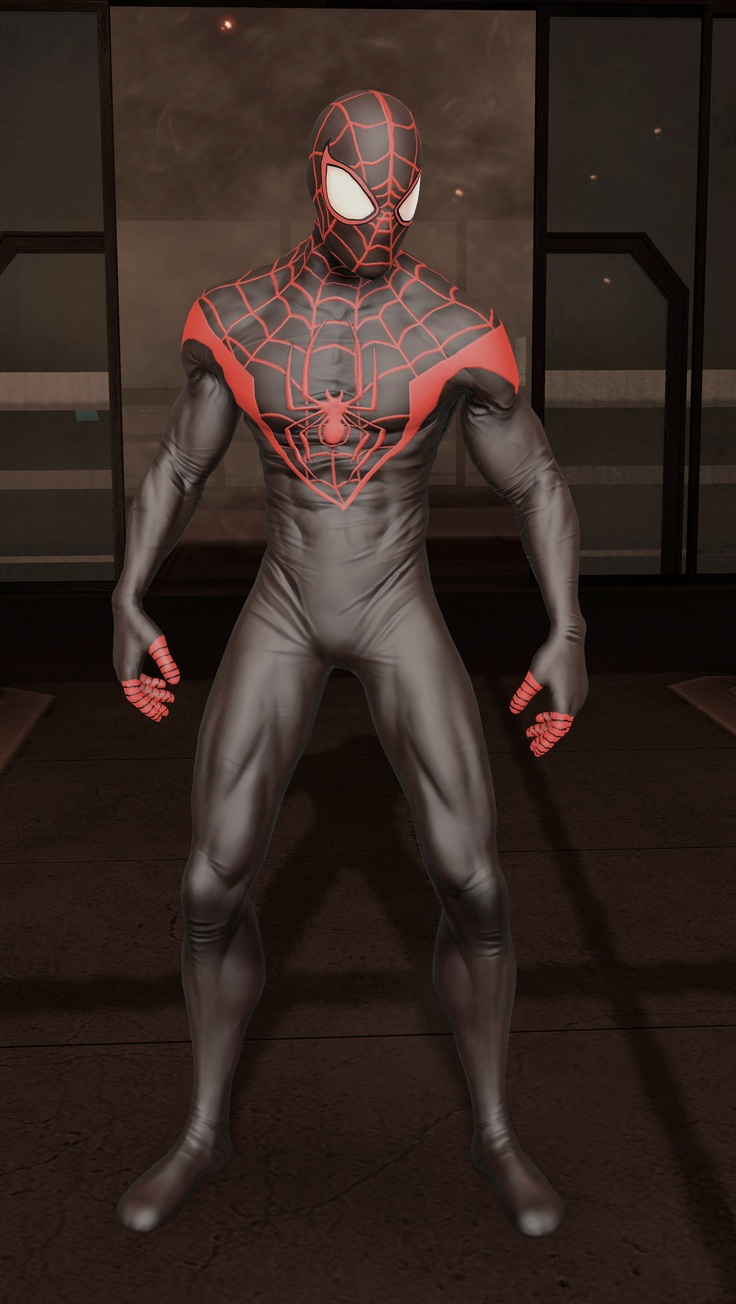 Check out this ultra musclular #SpiderMan in his super tight spider suit! Ouch!! ;)