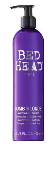 Tigi Bed Head Dumb Blonde Violet Shampoo 13.5 oz For chemically treated hair Banish brassy and yellow tones to ensure vibrant, bright, brilliant blonde. Violet