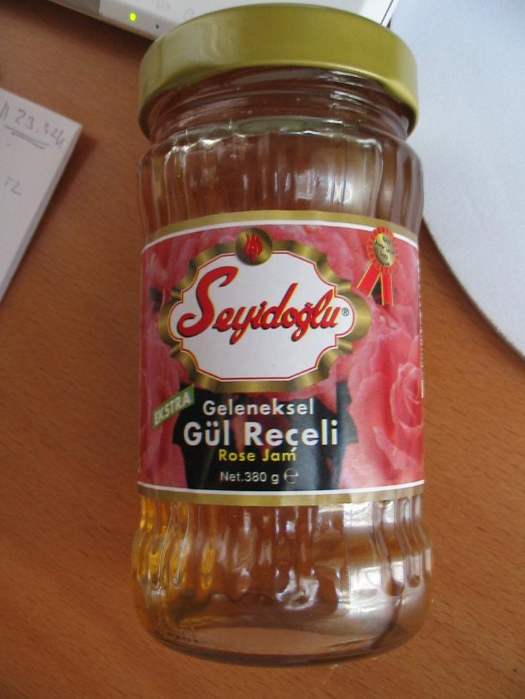 delicious rose jam (gül reçeli) Currently my favourite brand!