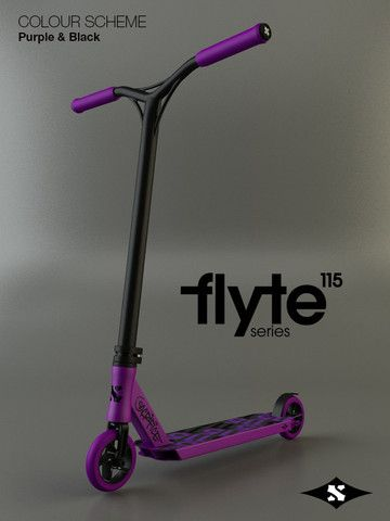 Sacrifice Flyte 115 Complete Pro Scooter - purple black