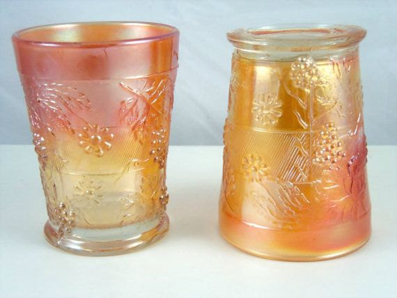 17 Best Images About Carnival Glass Beakers Tumblers On