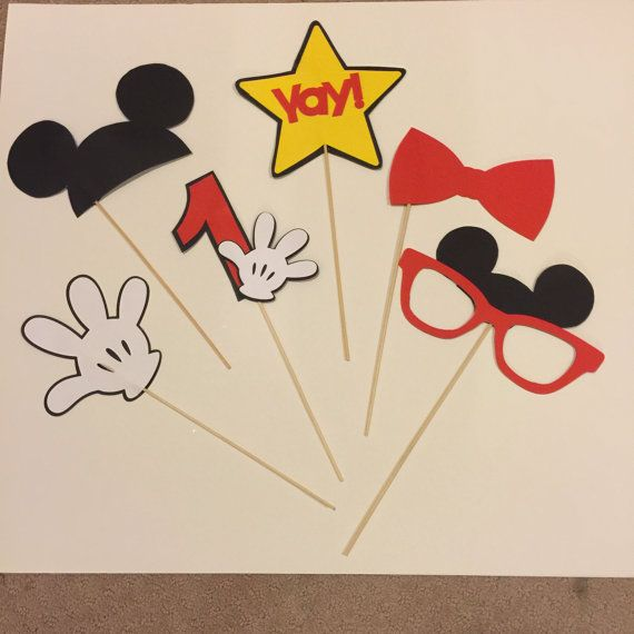 Mickey mouse photo booth props by MaleeCreations on Etsy