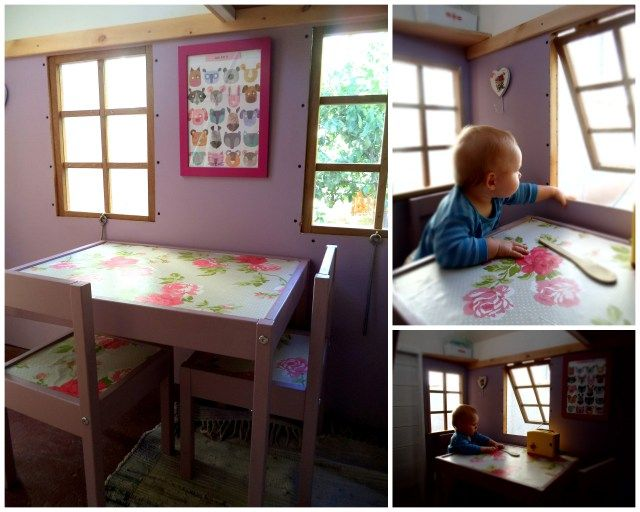 picture perfect furniture. painted ikea table and chair perfect furniture for playhouse picture