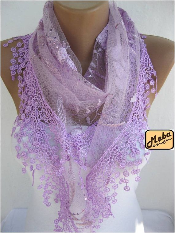 Lace scarf women scarves  guipure   fashion scarf  by MebaDesign, $15.90