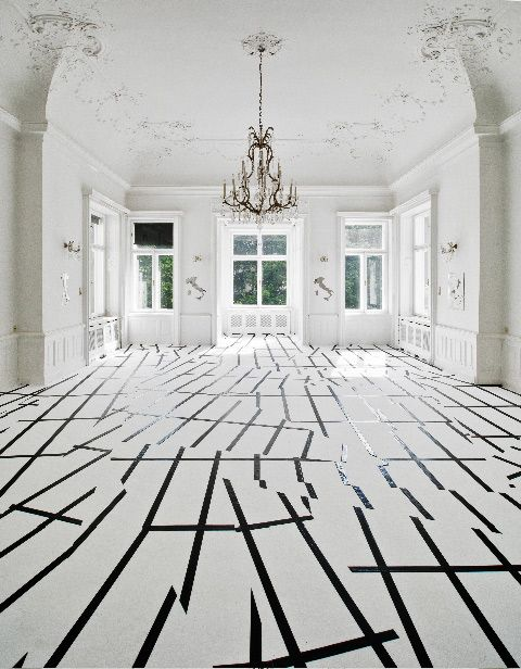 Geometric Rooms Installations by Esther Stocker