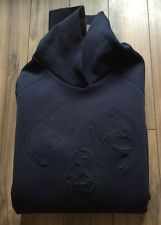 Wilfred Free Womens Sweatshirt Navy Deer Skull Medium Aritzia Embossed Graphics | eBay