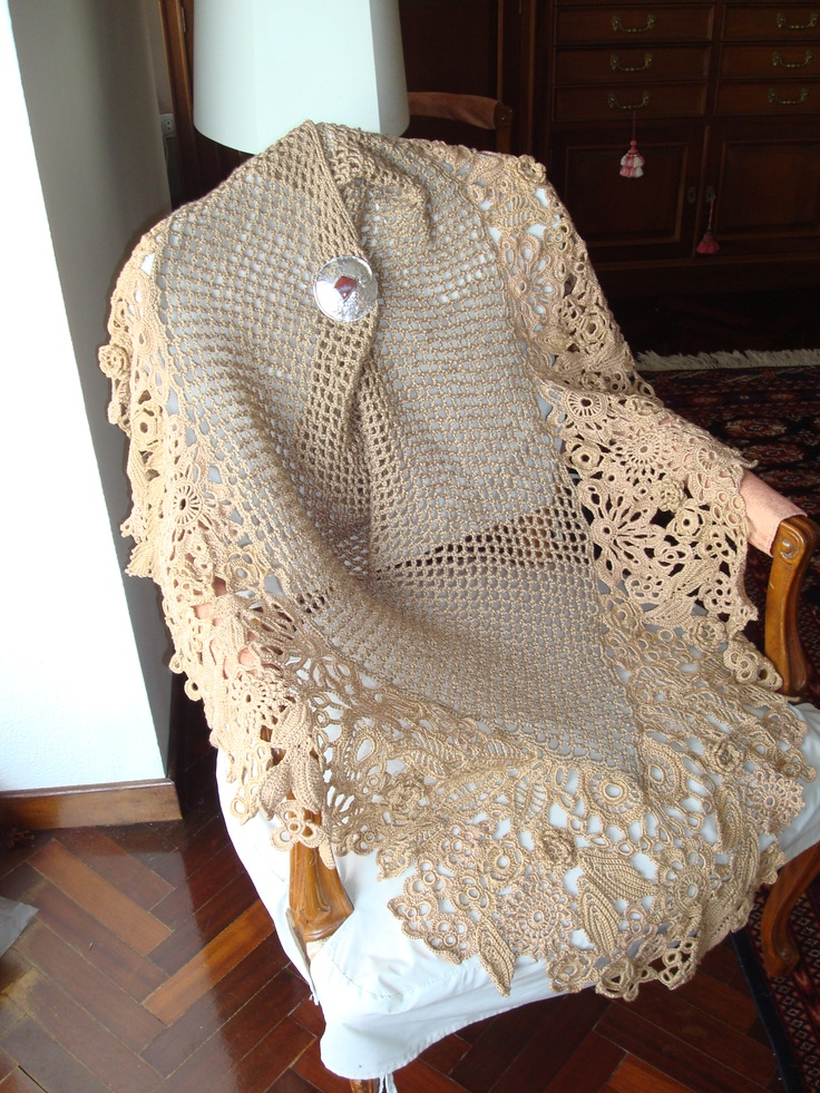 Irish Crochet Lace Shawl Pattern : 17 Best images about Irish Crochet on Pinterest Irish ...