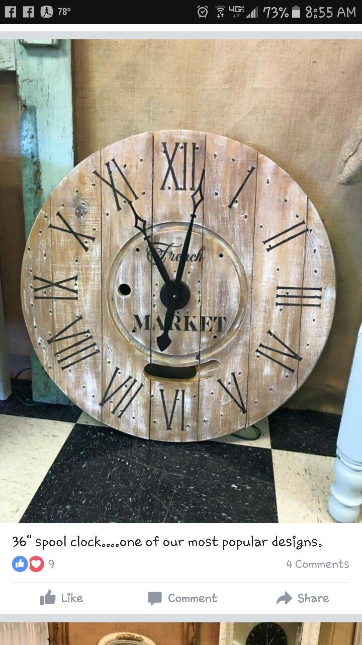 Spool clock hand made 306 best
