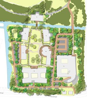 Landscape design by ollmer & Partners for care campus Haagstreek in Leidschendam