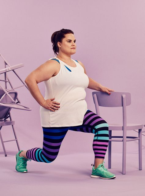 The Full-Body 30-Day Challenge You Can Do At Home #refinery29 http://www.refinery29.com/2016/08/118411/chair-exercises-30-day-fitness-challenge