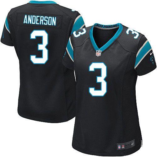 Women Nike Carolina Panthers #3 Derek Anderson Limited Black Team Color NFL Jersey Sale