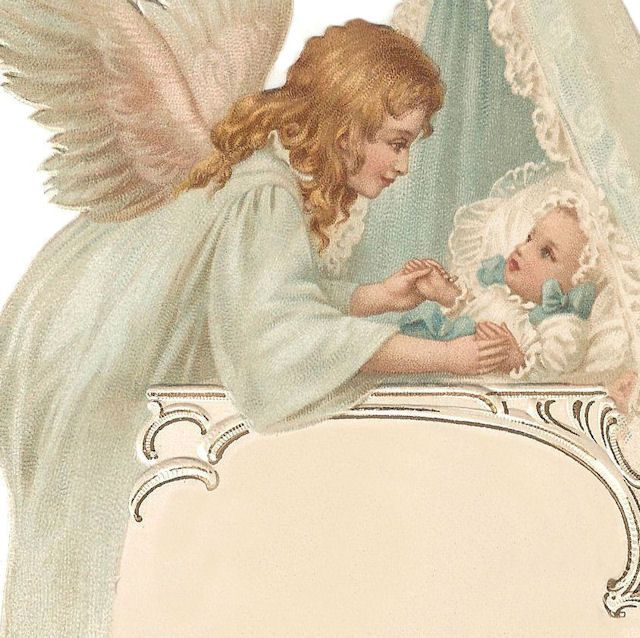 victorian angels | French CHRISTENING Menu * BABY Angel | Our Cottage Garden