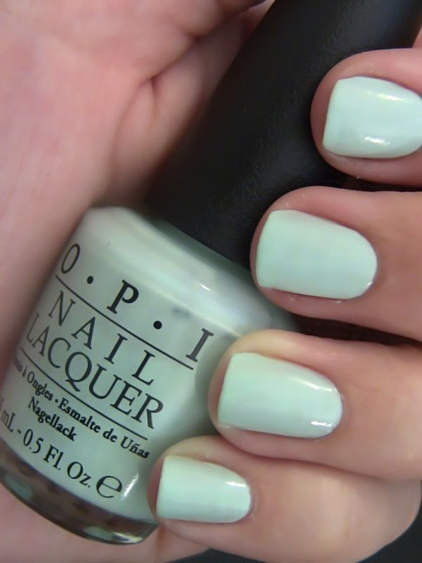 Best OPI Nail Polishes And Swatches - mint green nails