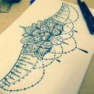 lotus mandala underboob tattoo - Google Search                                                                                                                                                     More
