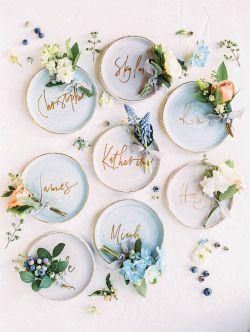 Ceramic name plates   Photography: Sally Pinera Photography