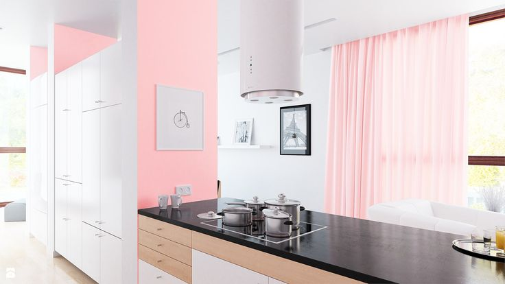 Kuchnia otwarta na salon i jadalnię - zdjęcie od Okapy kuchenne - Kuchnia - Styl Skandynawski - Okapy kuchenne