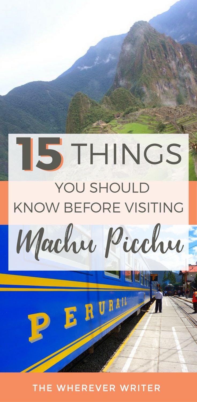 Machu Picchu Peru Travel, Peru Travel Tips, South America Travel