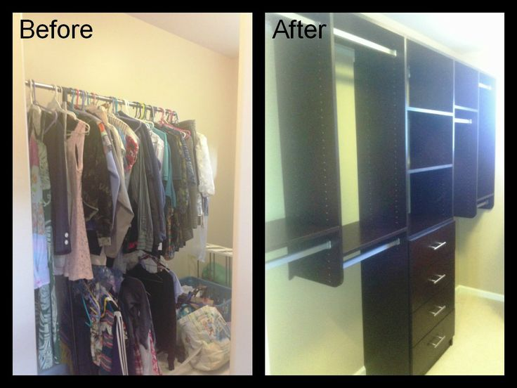 After A Much Needed Makeover By California Closets This Master Walk In Closet