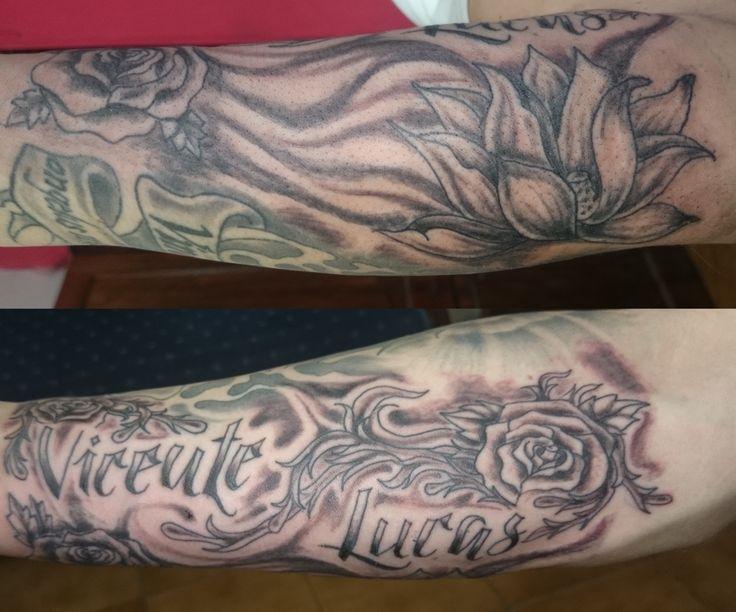 #nombrestatuajes #sombra #blastertattoo #rosas #black&grey #flordeloto #tatuajes