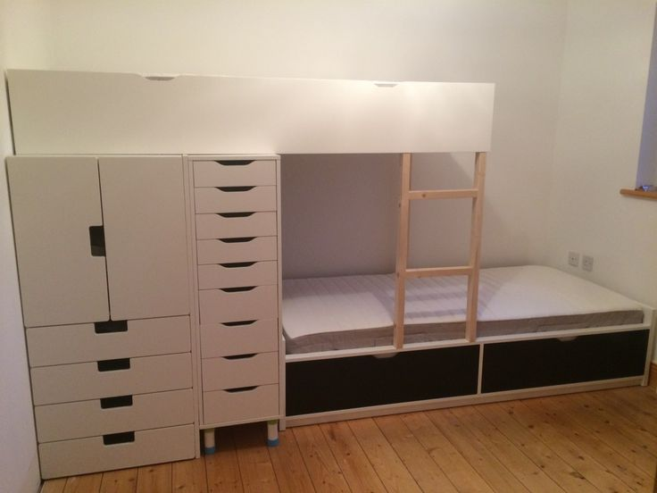 Storage is very important with kids especially in a small room so we came up with this bunk bed with lots of storage.