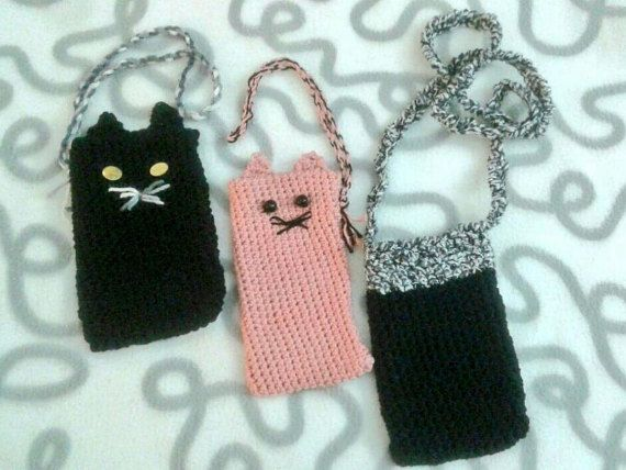COVERS, Pattern crocheted covers, covers for mobile, e-book readers and tablet, cat cover
