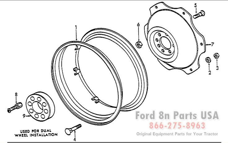 ford 8n 01b01 rear wheel related parts