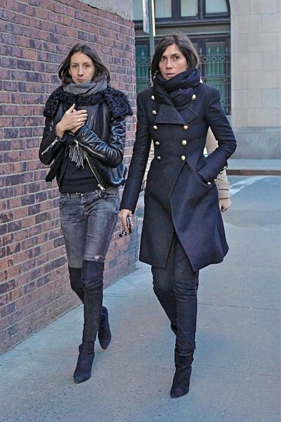 Love the coat on the right.