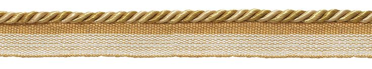 "10 Yard Value Pack of Small Two Tone Gold Baroque Collection 3/16"" Cord with Lip Style# 0316BL Color: GOLD MEDLEY - 8633 (30 Ft / 9 Meters)"