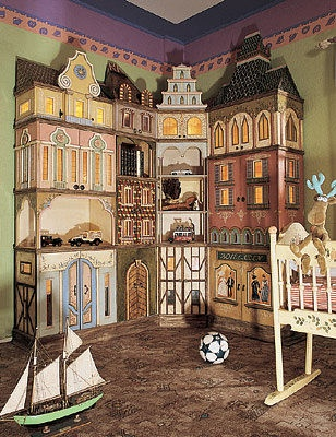 children room | Victorian houses styled storage, very cool